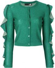 Love Moschino - Cardigan con ruches sulle maniche - women - Viscose/Polyester - 42 - Verde