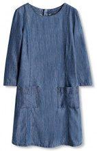 edc by ESPRIT 086CC1E027, Vestito Donna, Blu (BLUE DARK WASH), 36 (Taglia Produttore: Small)