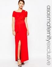 ASOS Maternity - Vestito lungo monospalla stile Bardot