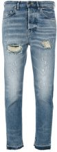 Golden Goose Deluxe Brand - distressed cropped jeans - women - Cotton/Spandex/Elastane - 26, 27, 28, 29 - BLUE