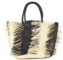 Sensi Studio - Borsa Tote con frange - women - Straw - One Size - NUDE & NEUTRALS