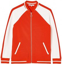 FIND Zip Felpa Donna, Rosso (Sports Red/Ivory), 40 (Taglia Produttore: X-Small)