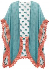 Poncho estivo con elefantini (Bianco) - bpc bonprix collection