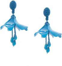 Oscar de la Renta - small Impatiens earrings - women - plastic/glass/metal/Crystal - One Size - Blu