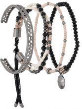 Camila Klein - beaded bracelets set - women - Metal (Other) - OS - Metallizzato