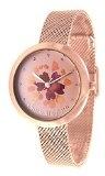 orologio Laura Biagiotti rosé con fiore e swarovski