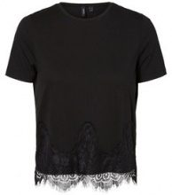 VERO MODA Lace Short Sleeved Top Women Black