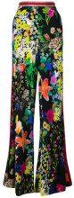 - Etro - Pantaloni con stampa floreale - women - viscose/Cotone/Polyamide/Metallic Fibre - 48, 42 - Nero
