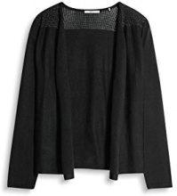 edc by Esprit 047cc1i006, Cardigan Donna, Nero (Black), 38 (Taglia Produttore: Medium)
