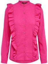 ONLY Frill Long Sleeved Shirt Women Pink