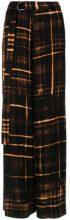 Tufi Duek - printed palazzo trousers - women - Viscose - 36, 38, 40, 42 - Nero