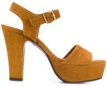 Chie Mihara - Sandali 'Xarco' - women - Leather/Suede/rubber - 36, 37, 38, 39 - BROWN