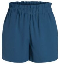 PIECES High Waist Shorts Women Blue