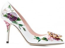 Dolce & Gabbana - Pumps Bellucci con stampa peonie - women - Leather - 36,5, 37, 37,5, 38, 38,5, 39, 39,5, 40, 35,5, 36, 41 - WHITE