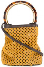 Marni - Borsa tote 'Pannier' - women - Calf Hair/Leather - One Size - Giallo & arancio