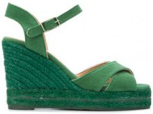 Castañer - Sandali con zeppa - women - Leather/Canvas/rubber - 38, 39, 40 - GREEN