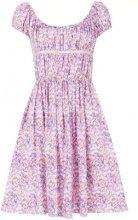 Blumarine - Vestito con stampa floreale - women - Cotone - 42 - PINK & PURPLE