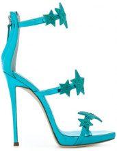 Giuseppe Zanotti Design - Sandali con stelle applicate - women - Leather - 36, 37, 38, 39.5, 40 - BLUE