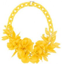 Isabel Marant - Collana con motivo a fiori - women - Latex/Polymethyl Methacrylate/Brass - OS - YELLOW & ORANGE