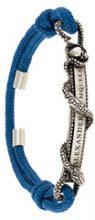Alexander McQueen - snake logo plaque bracelet - women - Polyamide/Metal (Other) - One Size - BLUE