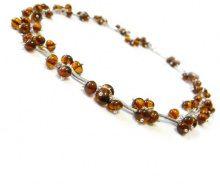 Goldmajor-Collana in argento Sterling e ambra, colore: bacca fili, lunghezza 42,5 cm