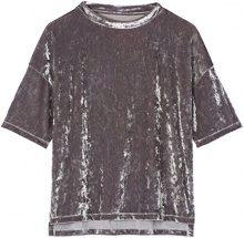 FIND T-Shirt in Velour Donna, Argento (Silver), 42 (Taglia Produttore: Small)