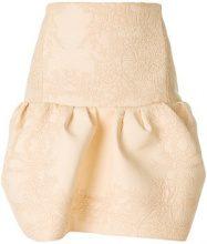 Chloé - Minigonna con design ricamato - women - Cotone/Polyamide/Acetate/Silk - 38, 36 - NUDE & NEUTRALS