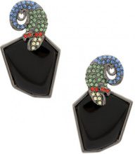 Camila Klein - Camaleão Com Strass earrings - women - Metal (Other) - OS - METALLIC