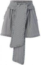 MSGM - striped high waisted shorts - women - Cotton/Polyamide/Spandex/Elastane - 42, 44, 38, 40 - BLACK