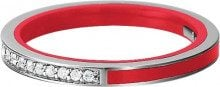 Underwater Peoples - Marin silver glam red, Anello in argento 925 con zirconia donna, bianco, 16