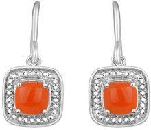 Jewelili Donna 925 argento cuscino arancione altro FASHIONEARRING