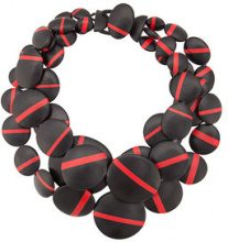 Monies - tiered oversize necklace - women - Polyester - OS - BLACK
