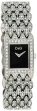 Orologio Donna Quarzo D&G Dolce&Gabbana display Analogico cinturino Acciaio inossidabile Argento e quadrante Nero DW 0076