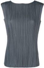 Fabiana Filippi - Blusa plissettata - women - Polyester - 42 - GREY