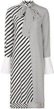 - Karl Lagerfeld - striped shirt dress - women - Silk - 44, 46, 38, 40, 42 - Nero