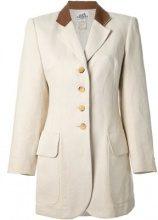 Hermès Vintage - Giacca monopetto - women - Cotton/Linen/Flax - 36 - NUDE & NEUTRALS