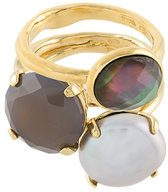 Wouters & Hendrix - My Favourite set of rings - women - Gold Plated Sterling Silver/quartz - 50, 52, 54, 56 - METALLIC