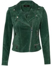 VERO MODA Suede Jacket Women Green