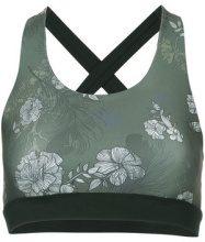 Nimble Activewear - Reggiseno sportivo 'X Back' - women - Spandex/Elastane/Polyethylene Terephthalate (PET) - XXS, XS, S, M, L - GREEN