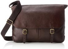 Fossil Herrentasche ? Haskell Messenger - Borsa Uomo, Marrone (Dark Brown), 7.62x30.48x40.64 cm (B x H T)