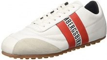 Bikkembergs Soccer 106, Sneaker a Collo Basso Unisex – Adulto, Bianco (Whiteblack), 45 EU