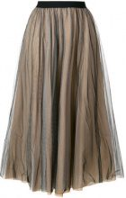 Nude - flared style skirt - women - Cotton/Polyamide/Polyester - 42 - BLACK