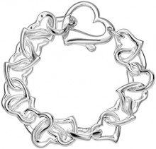BRS-K41045 - Bracciale da donna, argento sterling 925, 170 mm