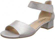 Caprice 28212, Sandali con Cinturino alla Caviglia Donna, Argento (Silver Metal 920), 37 EU