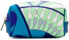 Emilio Pucci - Trousse con motivo stampato - women - Polyester - One Size - BLUE
