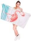 Asciugamano da bagno in spugna in microfibra telo mare 70 x 140 cm Flamingo [026]