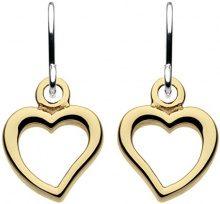 Dew orecchini in argento Sterling con pendenti a forma di cuore placcati in oro rosa, argento, colore: Gold