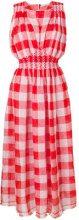 Ermanno Scervino - Vestito con motivo a quadri - women - Linen/Flax - 40, 44 - RED