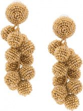 Sachin & Babi - embellished drop earrings - women - glass - OS - Metallizzato