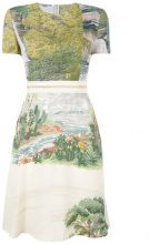 Stella McCartney - landscape print dress - women - Viscose/Polyamide/Latex/Polyester - 38 - GREEN